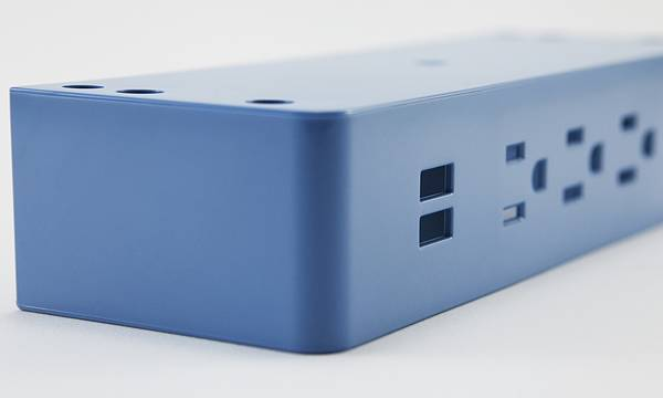 blue A/C power strip