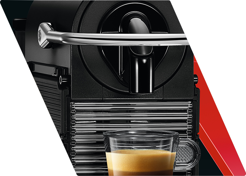 Zoomed in coffee maker