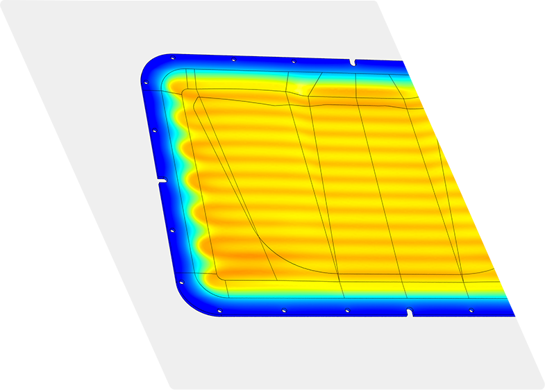 Thermal engineering heat map