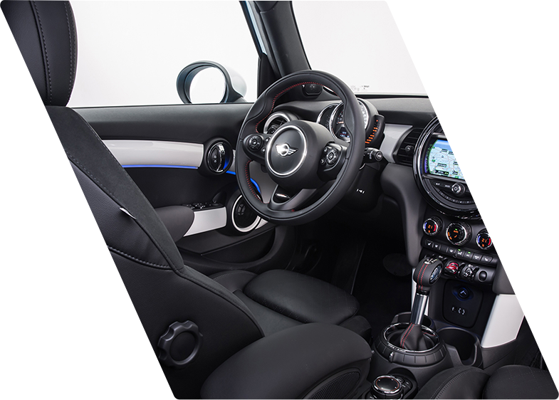 Interior of Mini Cooper